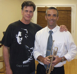 Roger at Michiko's Rehearsal Studio NYC with a student